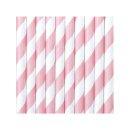 Trinkhalme rosa / weiß