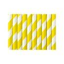 Trinkhalme gelb / weiß