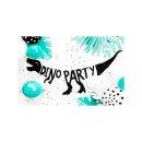 Bannergirlande Dino-Party schwarz
