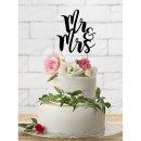 Cake Topper Mr & Mrs schwarz