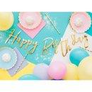 Bannergirlande Happy Birthday gold