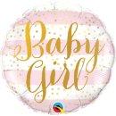 Folienballon Baby Girl Pink Stripes