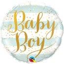 Folienballon Baby Boy Blue Stripes