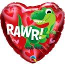 Folienballon Dino Rawr