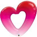 Folienballon Pink Ombre Heart