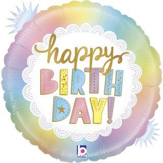 Folienballon Happy Birthday opal