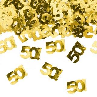 Konfetti Zahl 50 metallic gold
