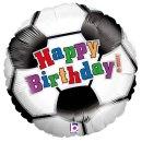 Folienballon Fussball Birthday