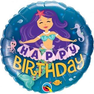 Folienballon Mermaid Happy Birthday