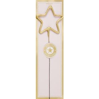 Wunderkerze Stern gold