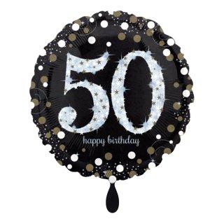Folienballon Zahl 50 Sparkling Birthday