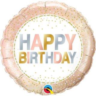 Folienballon Birthday Metallic Dots
