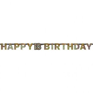 Girlande Geburtstag Zahl 18 Sparkling Celebration gold