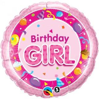 Folienballon Birthday Girl rosa