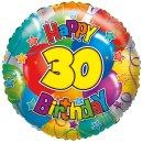 Folienballon Zahl 30 holographic