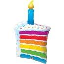 Birthday Rainbow Cake und Candle