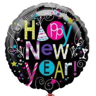 Folienballon Playful Happy New Year