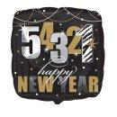 Folienballon 54321 Happy New Year