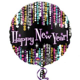 Folienballon Pizzazzz Happy New Year