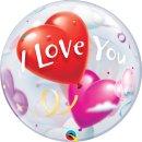 Folienballon Love Heart Balloons I Love You Single Bubble