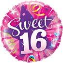 Folienballon Sweet 16 Shining Star