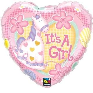 Folienballon Its A Girl Soft Pony rosa