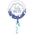 Folienballon Baby Boy Muschel