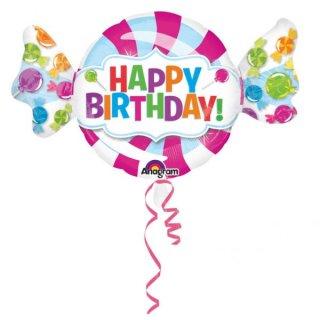 Folienballon Birthday Sweet Shop groß