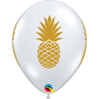 Latexballon 11in/27,9cm Pineapple Diamond Clear (transparent)