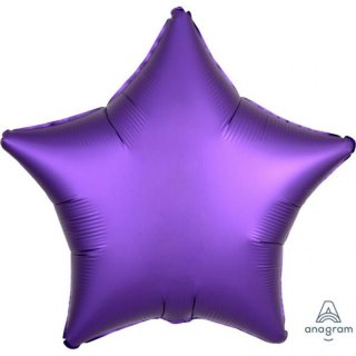 Folienballon Stern Purple satin luxe
