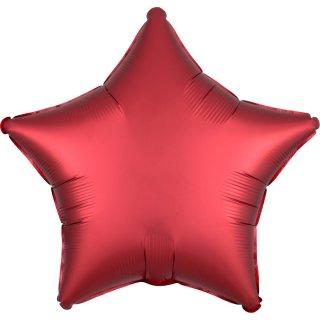 Folienballon Stern Sangria satin luxe